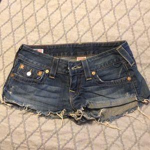 Size 27 True Religion Jean Shorts
